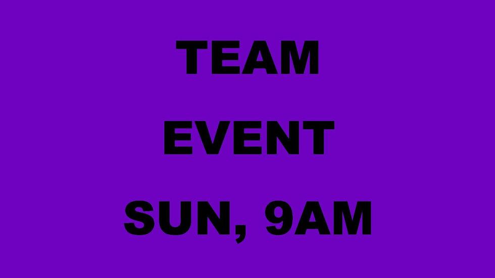 Team Event Pre-Registration