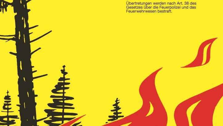 Grosse Waldbrandgefahr - Feuerverbot