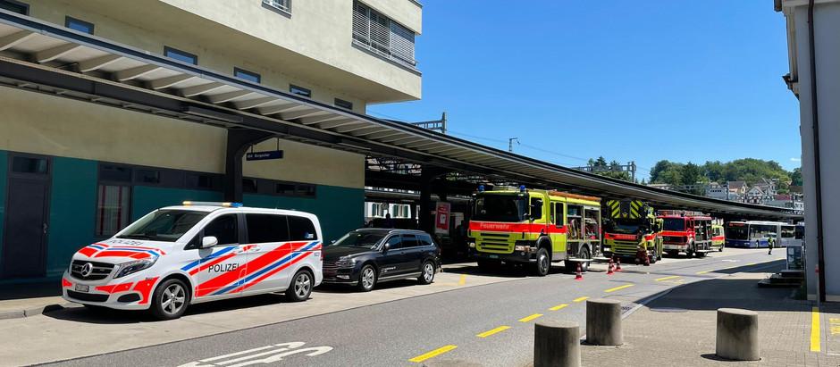 KA 1: Brand am Bahnhof Rüti