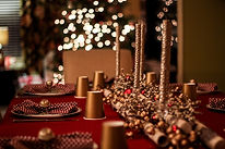 Designer Holiday Gold and Red trims