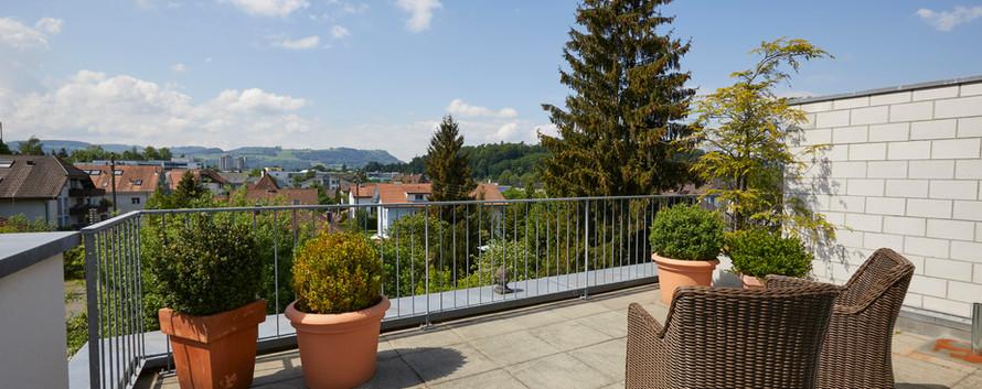 Terrasse mit Blick auf Gurten
