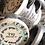 Thumbnail: Tof Miriam Glitter Silver Garden of Flowers Tambourine Keychain