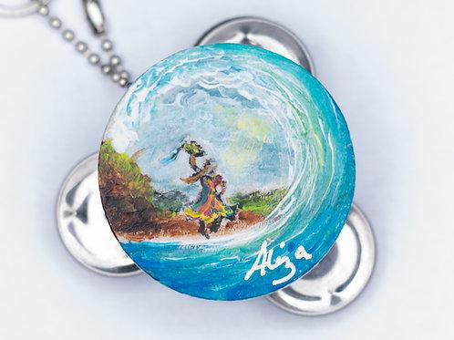 Tof Miriam Mystic Blue Surf Wave Keychain
