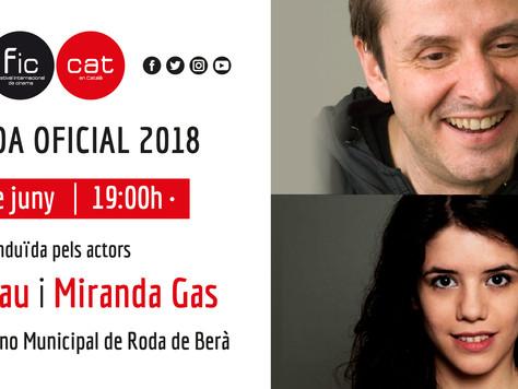 Oriol Grau i Miranda Gas, conductors de la gala de cloenda