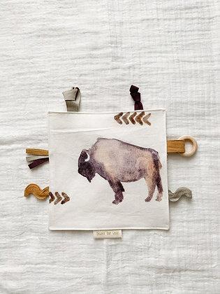Sensory Teething Lovey- Buffalo