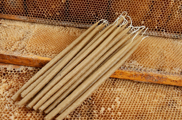 32pcs Natural Beeswax Candles 100% Pure 1lb Total Weight