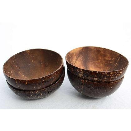 Handmade Coconut Bowls (No Logo) - Set of 4