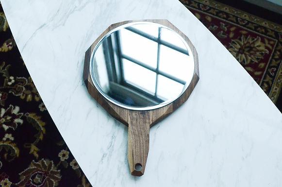 "Geometric Hand Mirror 12"""