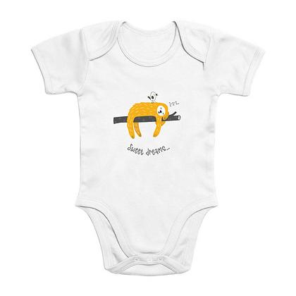 Sweet Dreams Short Sleeve Organic Baby Bodysuit