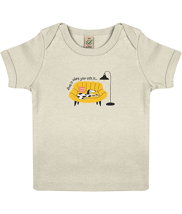 Home Is Where Your Sofa Is Organic Cotton Short Sleeve Baby T-Shirt