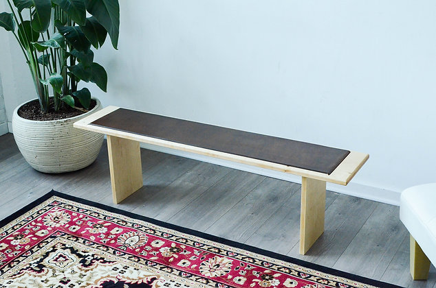 Minimalist Leather Bench