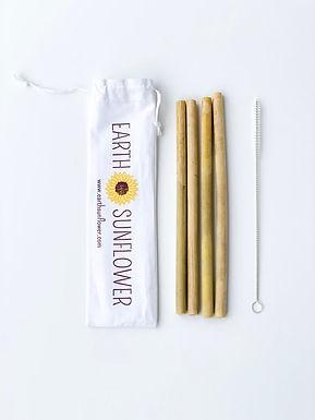 Organic Bamboo Straw Set - Handmade