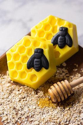 Oatmeal Milk N Honey Bee Shaped