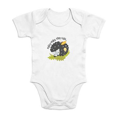 Sleep Tight Short Sleeves Organic Baby Bodysuit