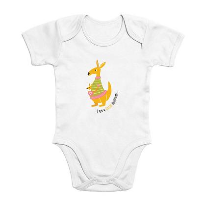 Little Explorer Short Sleeve Organic Baby Bodysuit