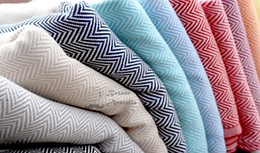 100% Organic Cotton Turkish Peshtemal Hand & Kitchen Towels