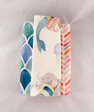 Burp Cloth Set-Mermaid