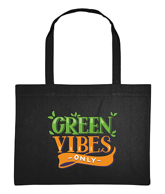 Green Vibes Only Recycled Cotton Eco-Friendly Shopping Bag
