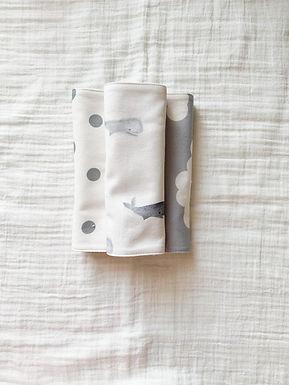 Burp Cloth Set-Whales