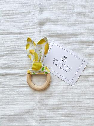 Crinkle Bunny Teether-Lemons