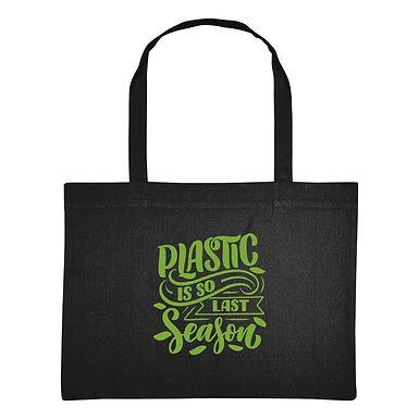 Plastic Is So Last Season Recycled Eco-Friendly Shopping Bag