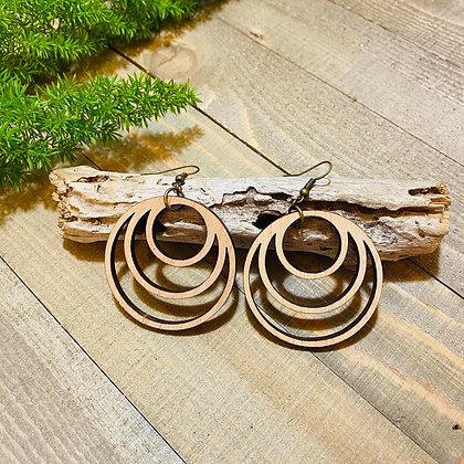 Triple Wooden Hoops