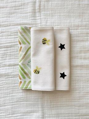 Burp Cloth Set-Bees