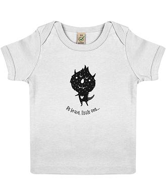 Be Brave Short Sleeve Organic Cotton Baby T-Shirt