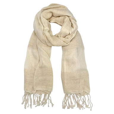 Cream Organic Cotton Gauze Scarf