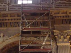 Basiliek Oudenbosch Reparatie muurschildering