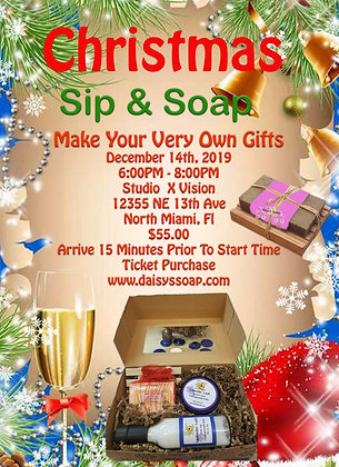 Christmas Sip & Soap