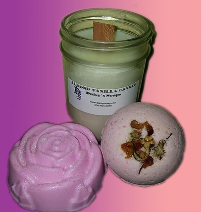 Almond Vanilla Soap and Candle Set