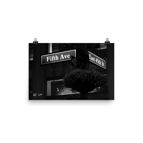 Fifth Ave NY Poster 12x18