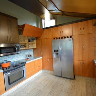 Quarter Sawn Cherry Veneer Kitchen