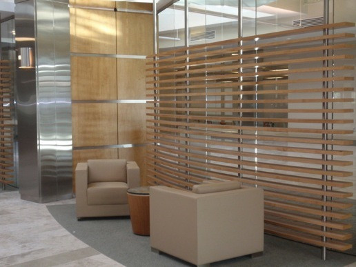 Curved Maple Slat walls