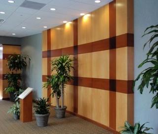 Maple Veneer Lobby Wall