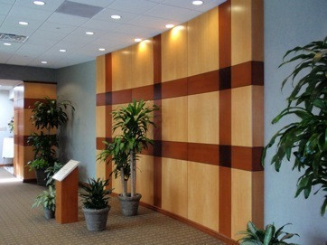 Maple Veneer Lobby Wall