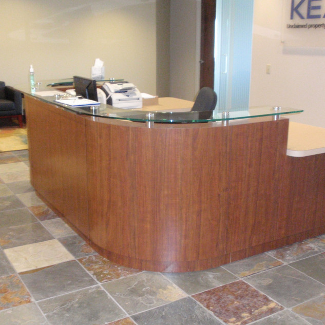 Curved Laminate Reception Desk
