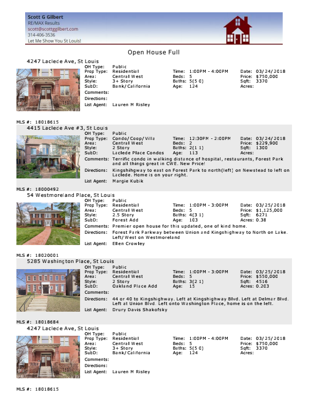 CWE 63108 Open Houses