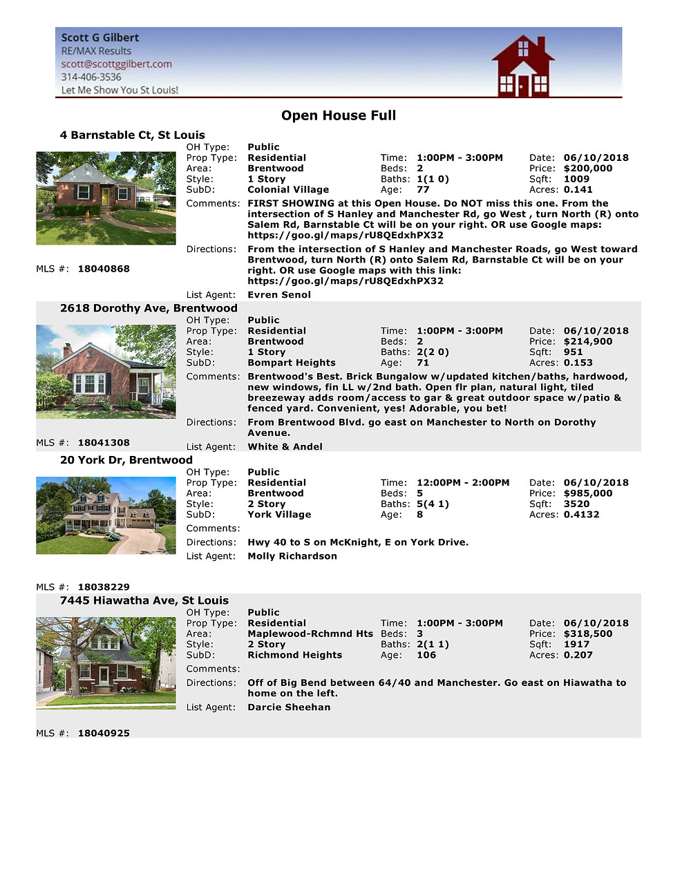 St Louis Living Open Houses | Brentwood