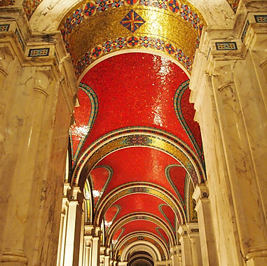 Mosaics located in the Cathedral - Basilica St Louis - Linell & Newstead