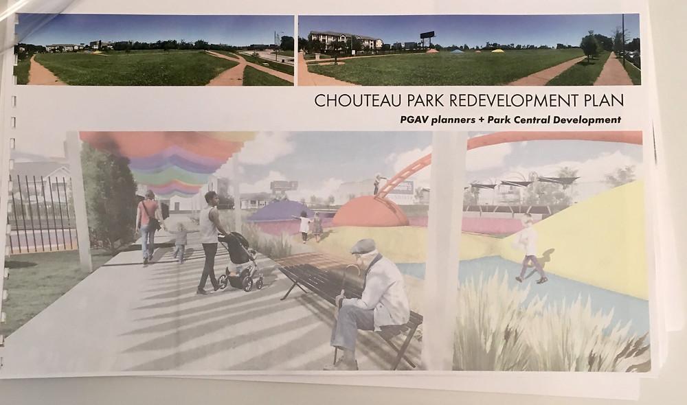Chouteau Park Redevelopment Plan | Park Central Development | Forest Park Southeast
