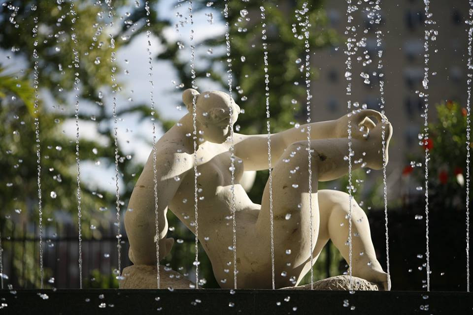 The Great Bather - Fountain / Sculpture at the Pool at the Chase Park Plaza