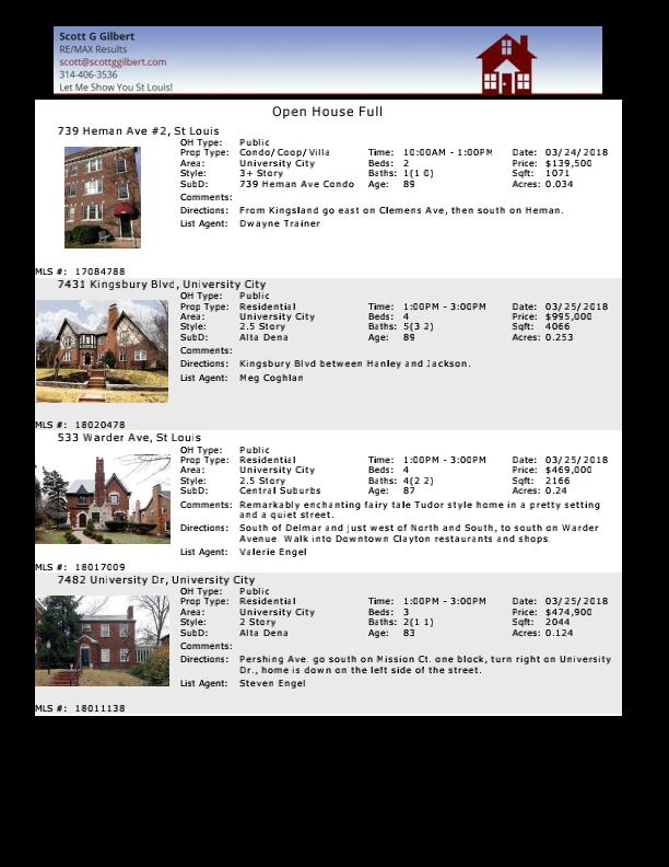 St Louis Open Houses - University City - 63130 - www.stlouisliving.com