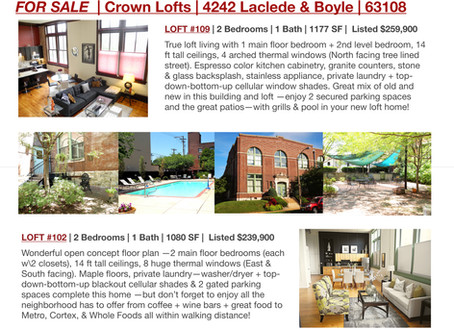 2 Great Lofts FOR SALE | Crown Lofts