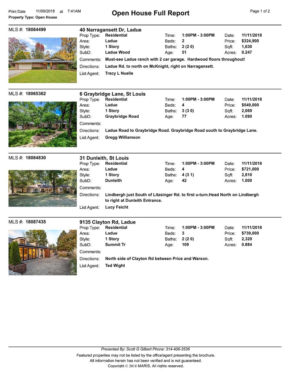 St Louis Open Houses | Ladue Open Houses