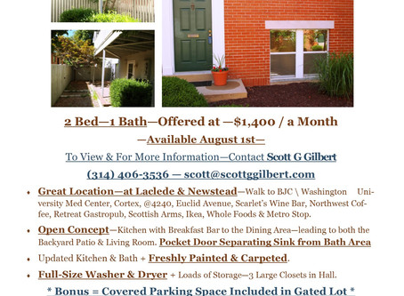 CWE Condo For Lease...                   Complete w/Backyard!!!