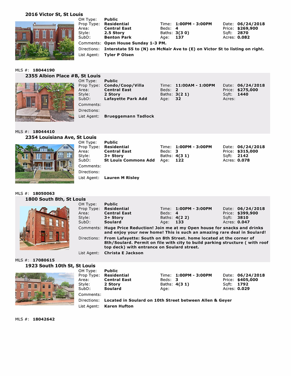 St Louis | Open Houses | Benton Park