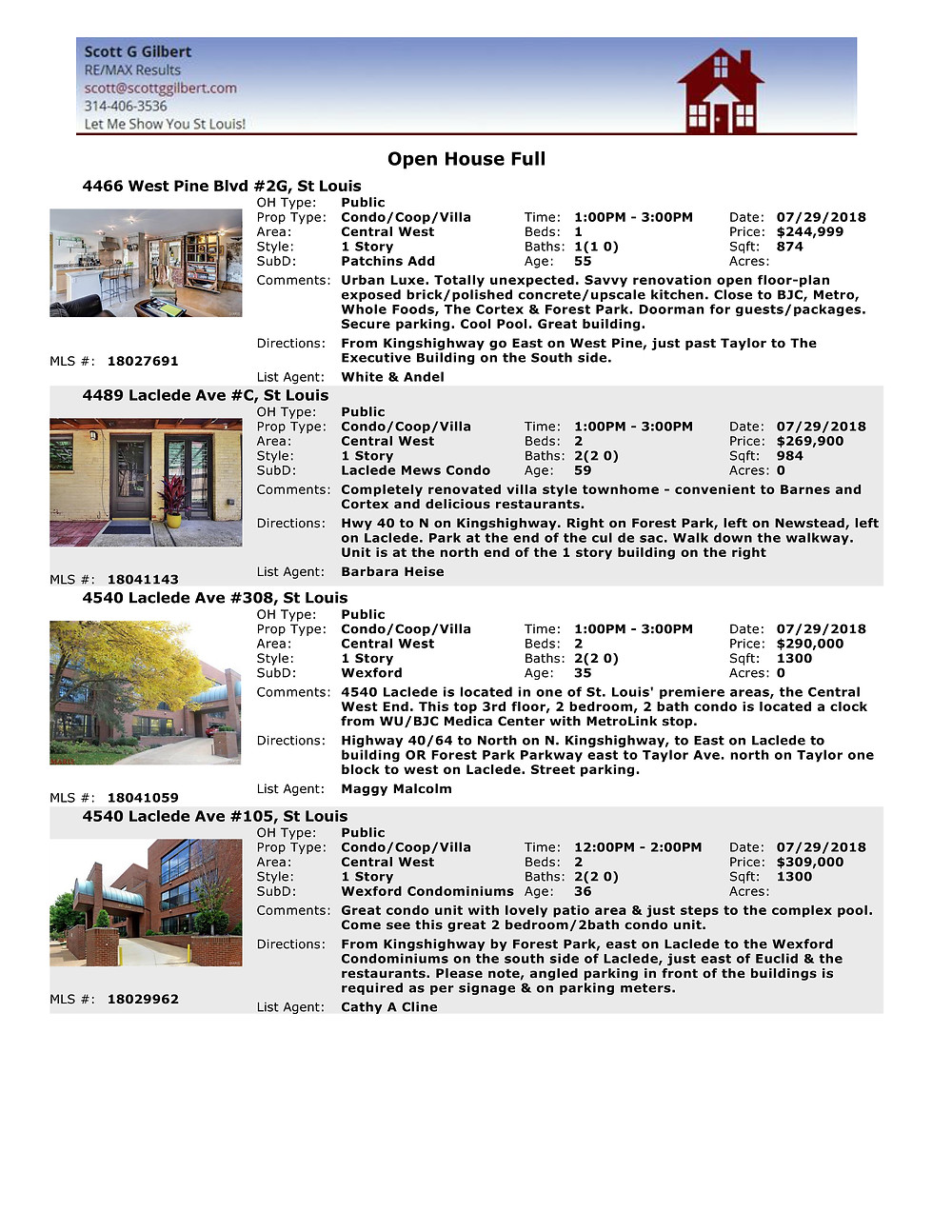 Central West End Open Houses 63108