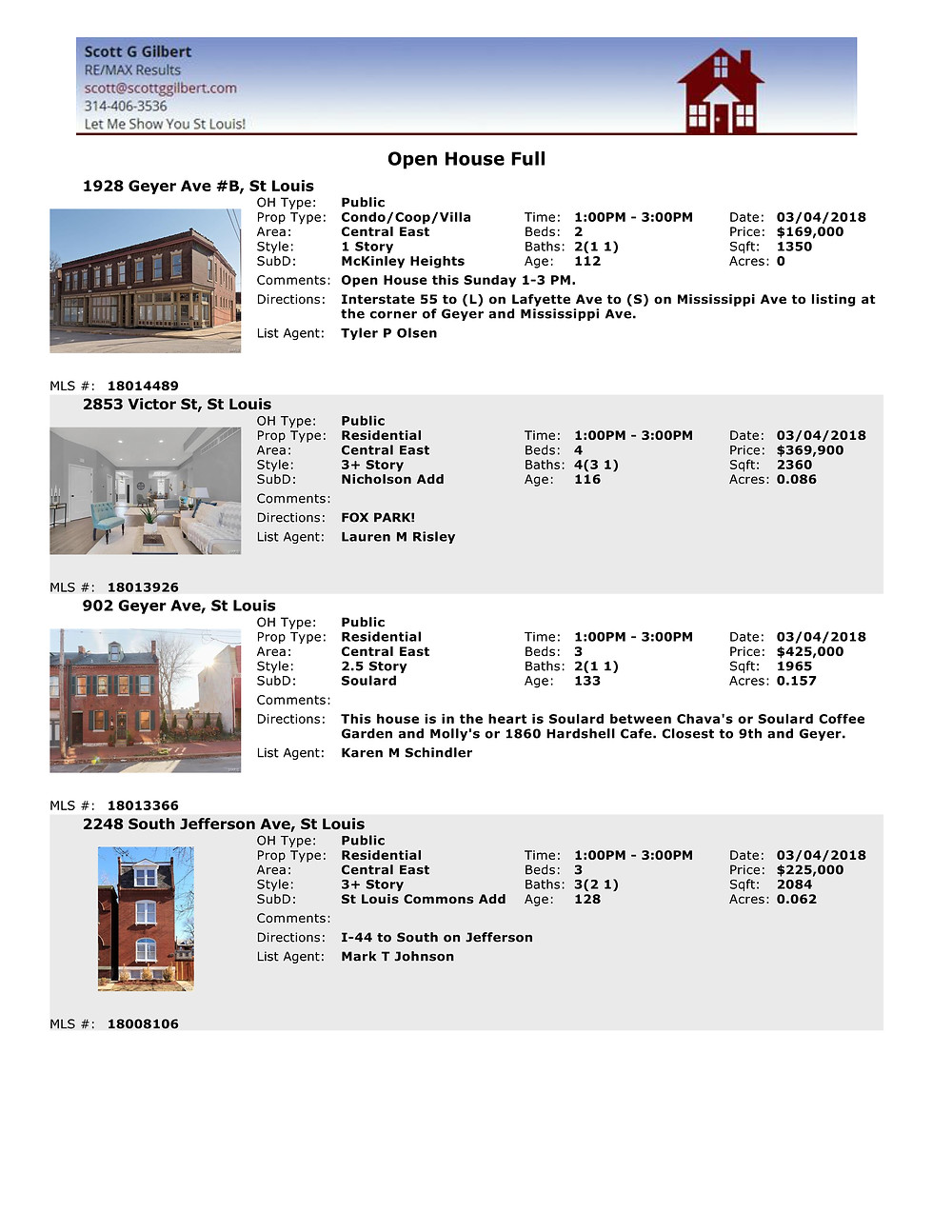 St Louis Open Houses 63104 www.stlouisliving.info